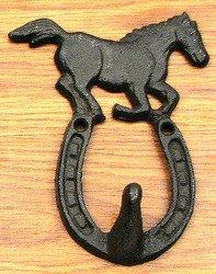 Horse on Horseshoe Hook Set/6