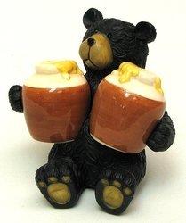 Bear Salt & Pepper Red Shakers