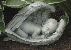 """7"""" Sleeping Baby In Wings Fig Set of 2"""