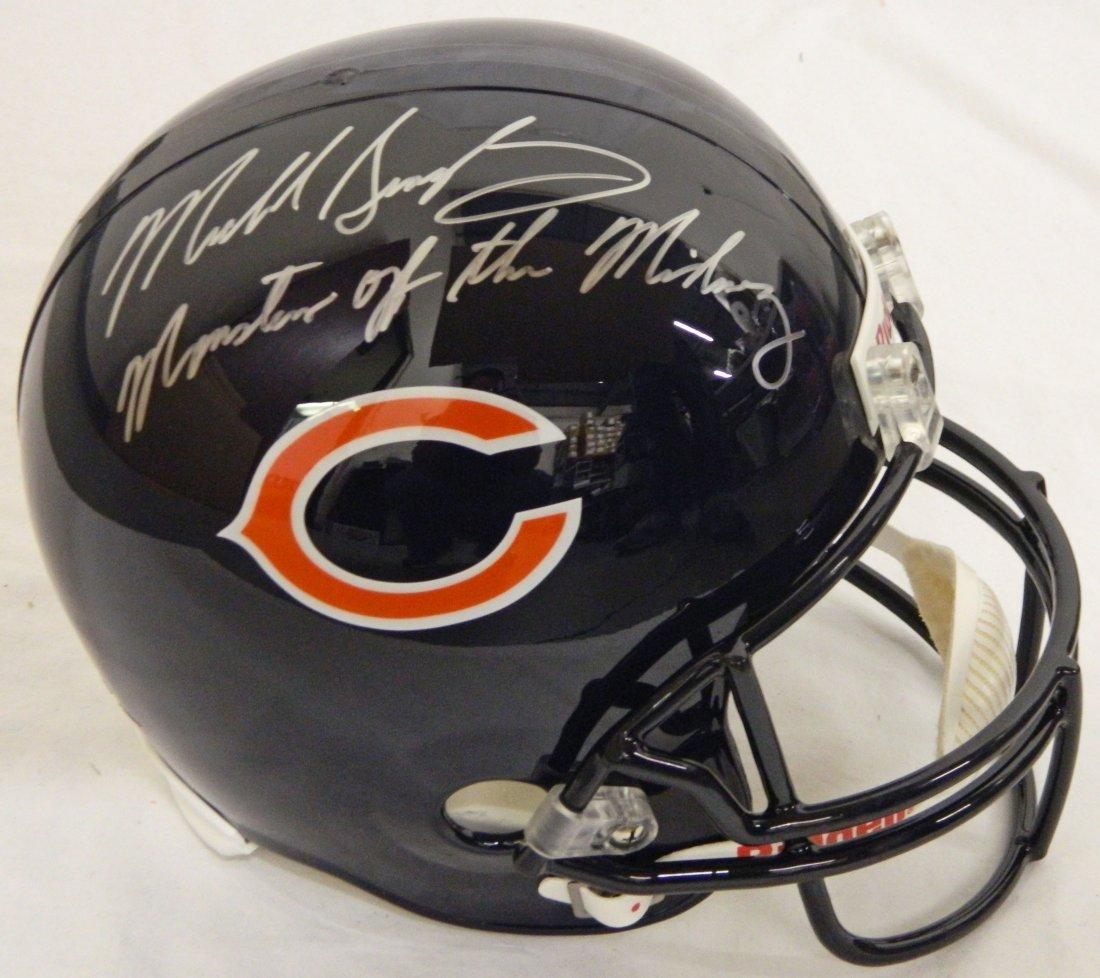 Mike Singletary signed Chicago Bears Riddell full-size