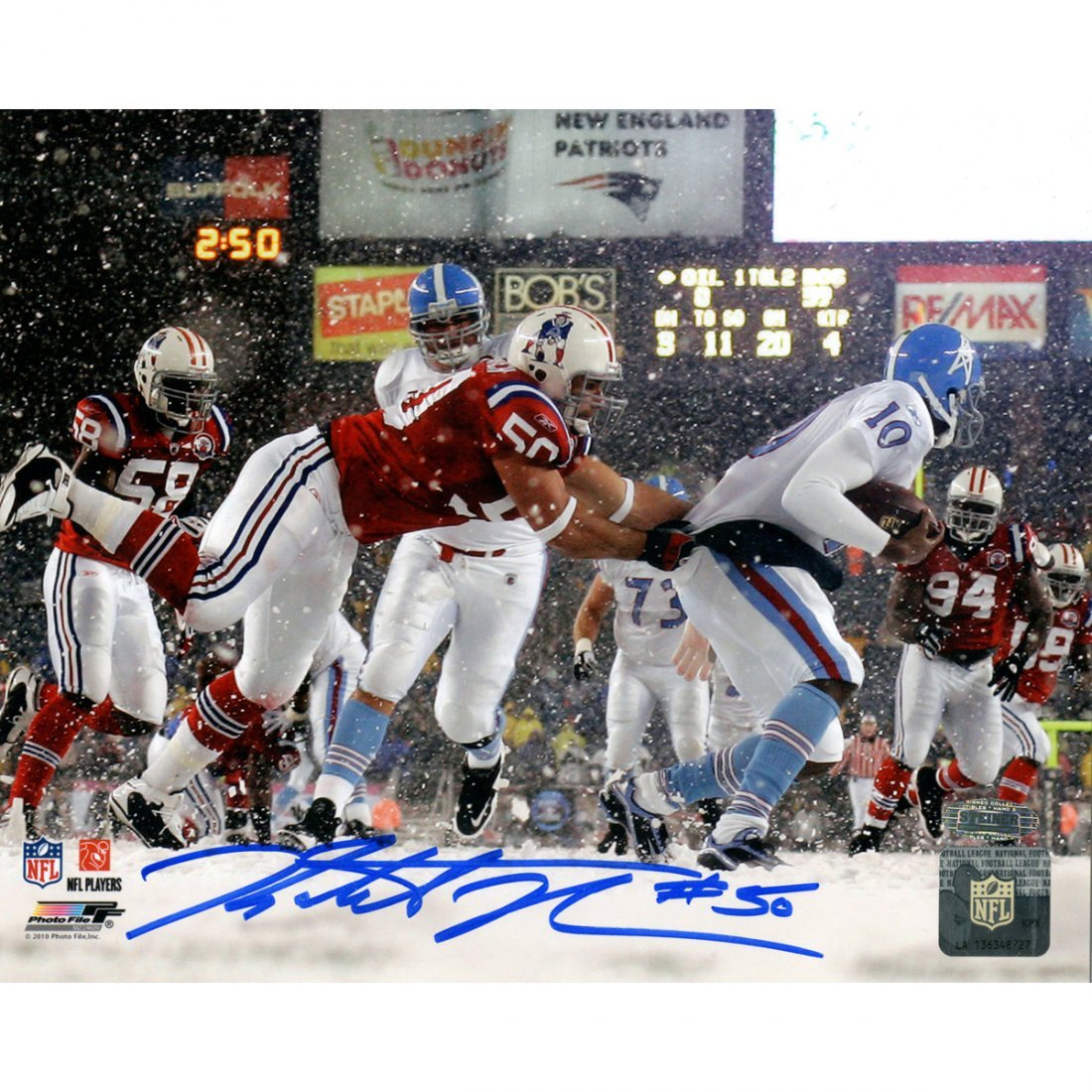 Rob Ninkovich Signed New England Patriots vs Oilers In
