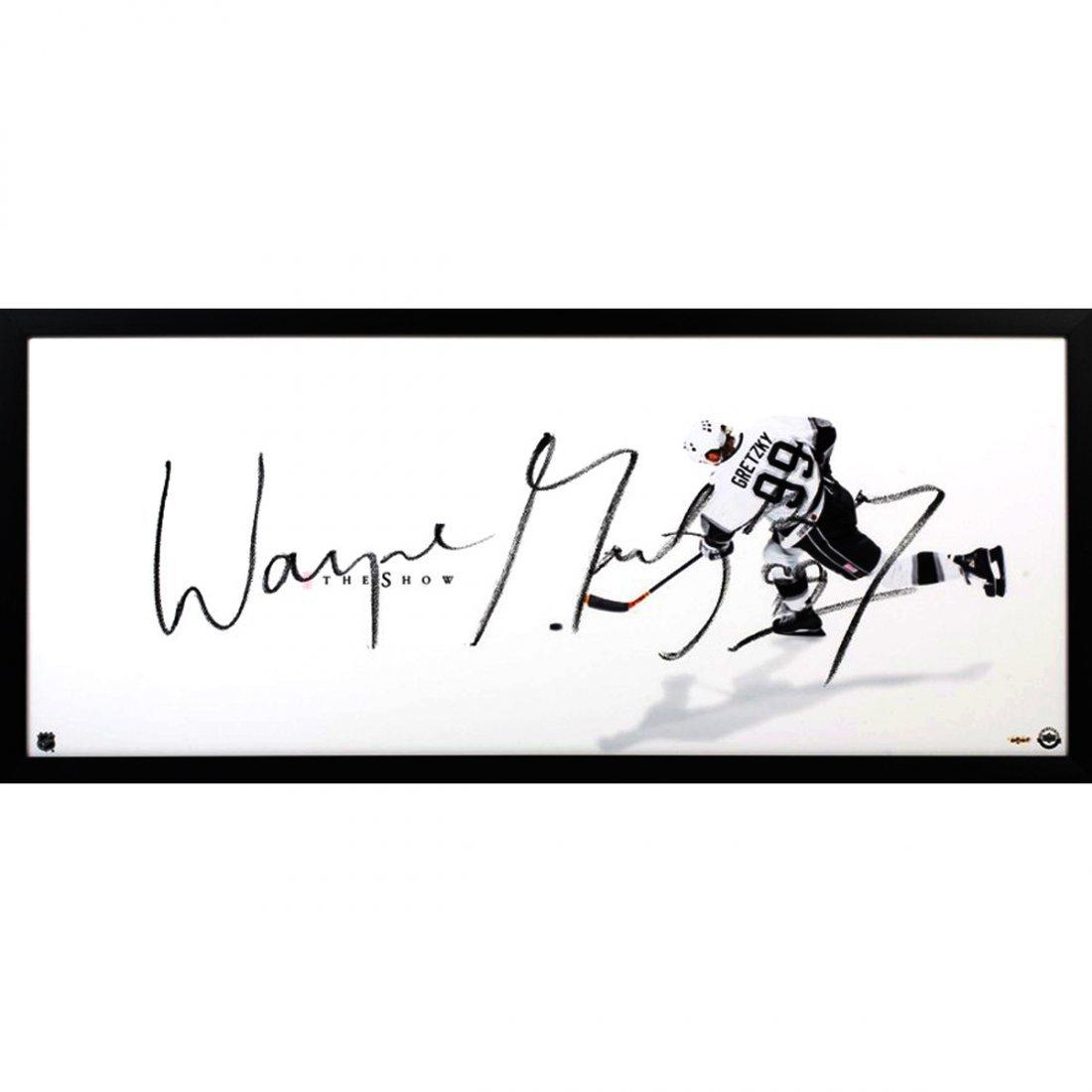 Wayne Gretzky Signed LA Kings The Show Framed Display (