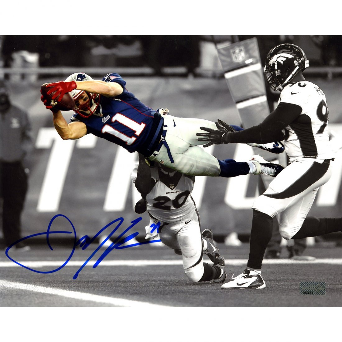 Julian Edelman Signed 8x10 Photo ( New England Picture