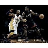 LeBron James vs Kobe Bryant Signed 16x20 Photo LE 106