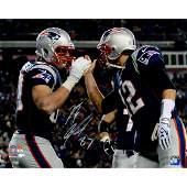 Rob Gronkowski Signed New England Patriots w/ Tom Brady