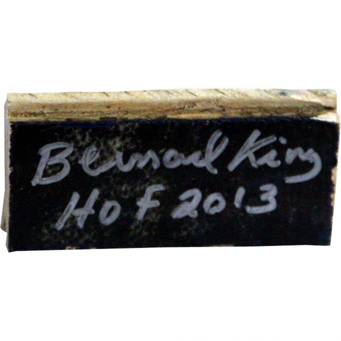 Bernard King Signed 2x3 MSG Court Piece w/ HOF insc (Si