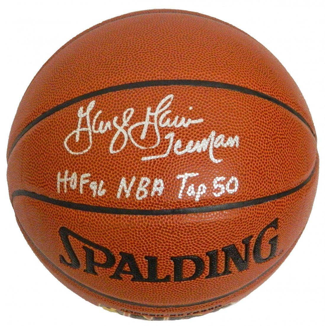 George Gervin signed Spalding NBA Indoor/Outdoor basket
