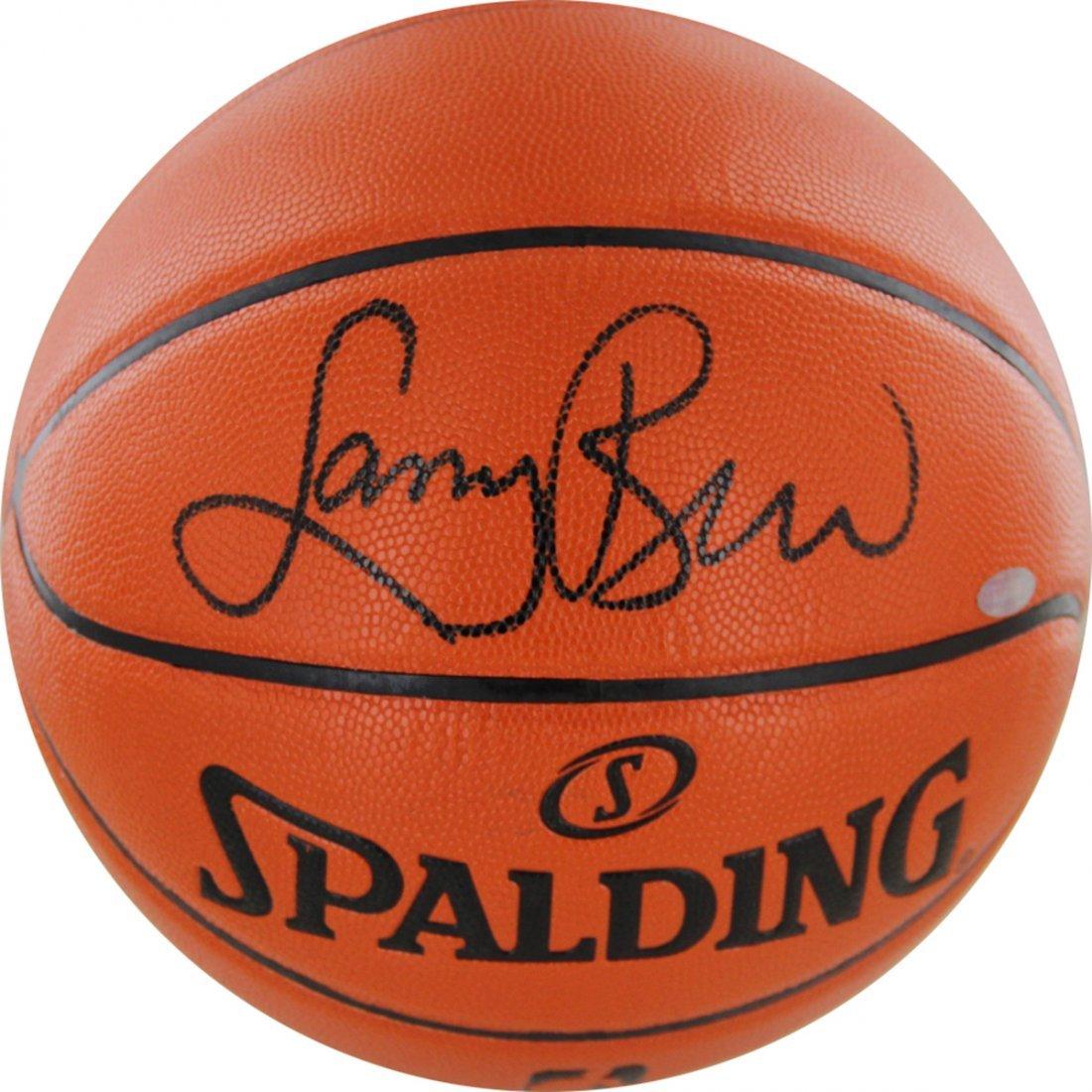 Larry Bird Signed I/O Basketball (Signed In Black)