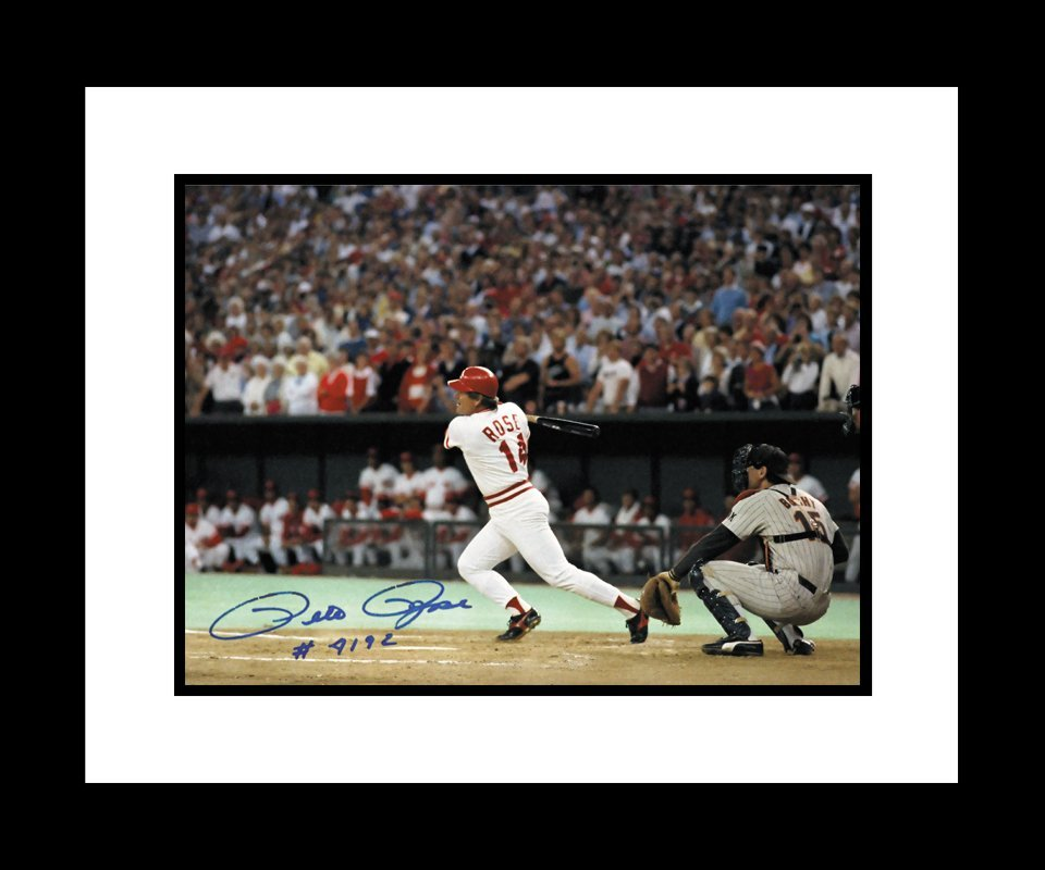 Pete Rose 4192 signed 16x20