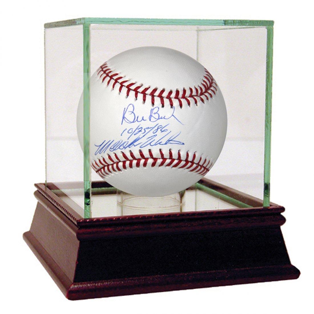 Bill Buckner/Mookie Wilson Dual Signed MLB Baseball w/