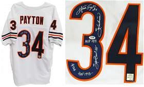 "Walter Payton signed white custom jersey with ""Swe"