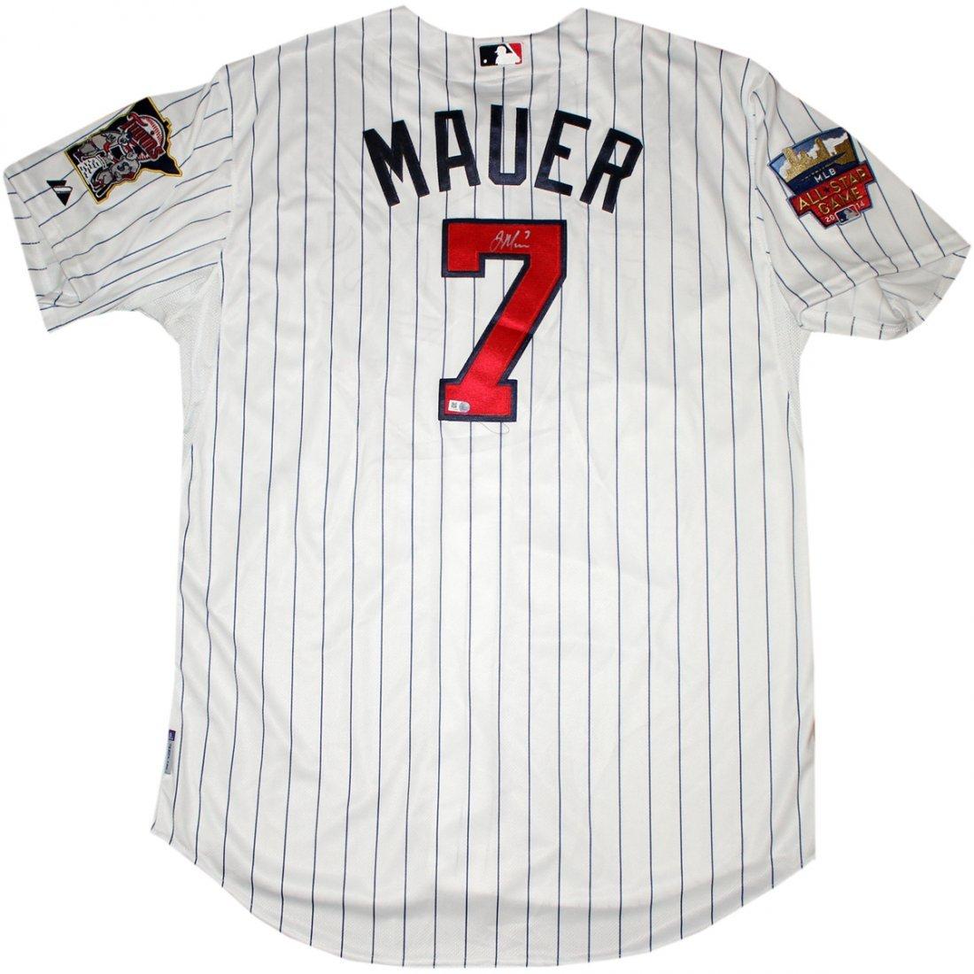 Joe Mauer Signed Minnesota Twins Authentic Home Jersey