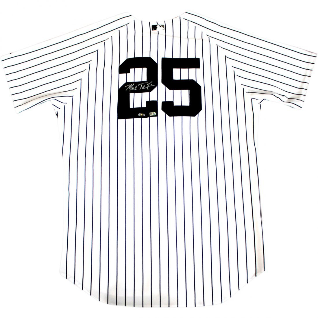 Mark Teixeira Yankees Authentic Home Pinstripe Jersey (