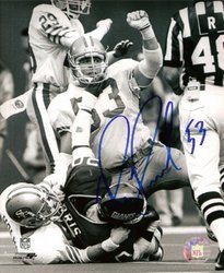 Bill Romanowski NFL San Francisco 49ers Hand Signed 8x1
