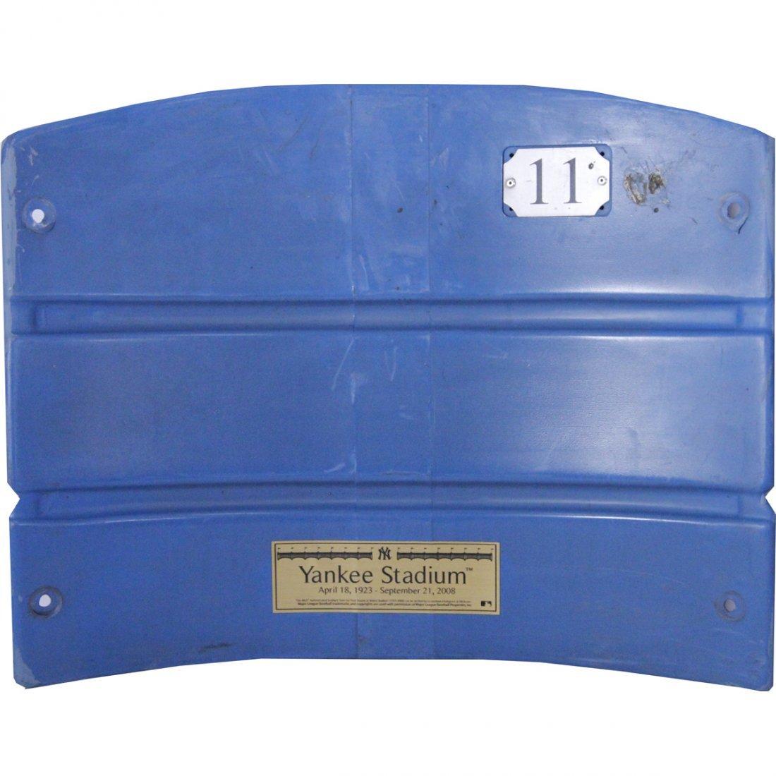 Authentic Yankee Stadium Seat Back w/ Nameplate (MLB Au