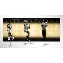 Muhammad Ali, Michael Jordan, Tiger Woods, Triple Signe