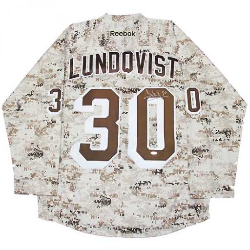 Henrik Lundqvist Signed New York Rangers Camo Jersey 54573704ab8