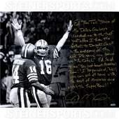 Joe Montana Signed The Catch 16x20 Story Photo