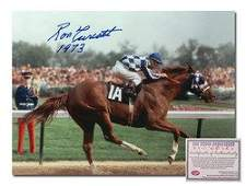 Ron Turcotte Secretariat Horse Racing Hand Signed 11x14