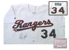Nolan Ryan Texas Rangers MLB Hand Signed Authentic Styl