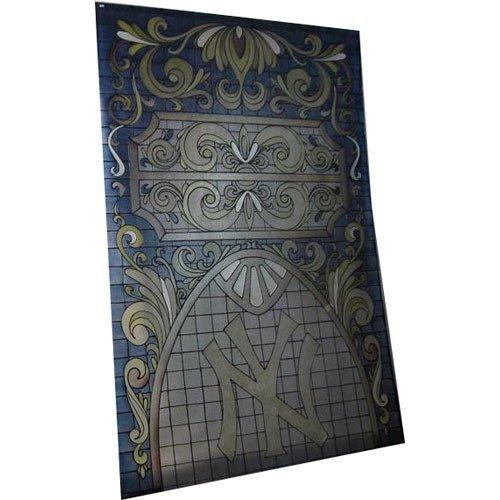 Stained plexi glass withNY insignia (80 1/2x54 1/2)