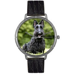 Scottie Black Leather And Silvertone Photo Watch #T0130