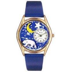 Polar Bear Royal Blue Leather And Goldtone Watch #C0150