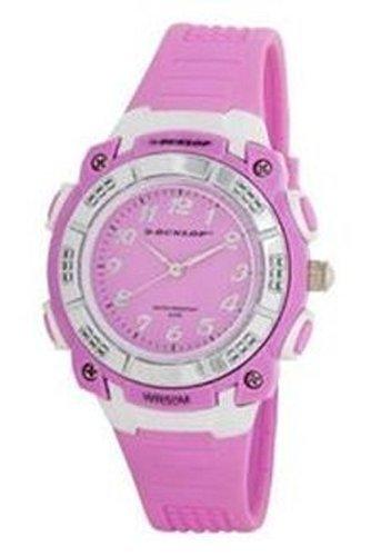 Steel case, Silicone strap, Pink dial, Quartz movement,