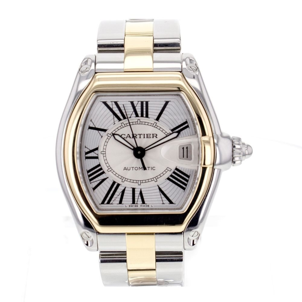 Cartier Roadster Large W62031Y4 Stainless Steel and 18K