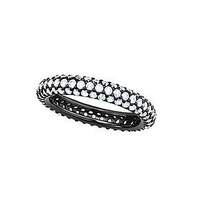 Black Silver/Rings Features 3.78 Grams of Black Silver