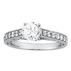 14K Gold 1.1 ctw Round Diamond Ring.  Brand New!   Feat