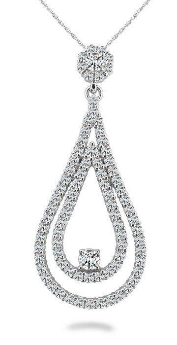 14KT Gold 0.85 ct Diamond Pendant Featuring 3.8 Grams o