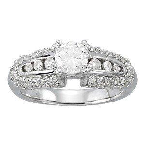 14K Gold 1.93 ctw Round Diamond Ring.  Brand New!   Fea