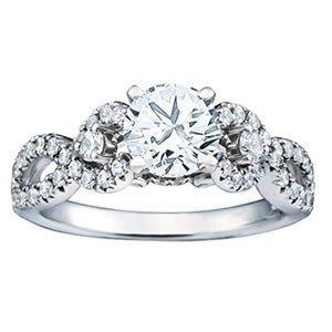 14K Gold 0.905 ctw Round Diamond Ring.  Brand New!   Fe