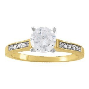 14K Gold 1.6 ctw Round Diamond Ring.  Brand New!   Feat