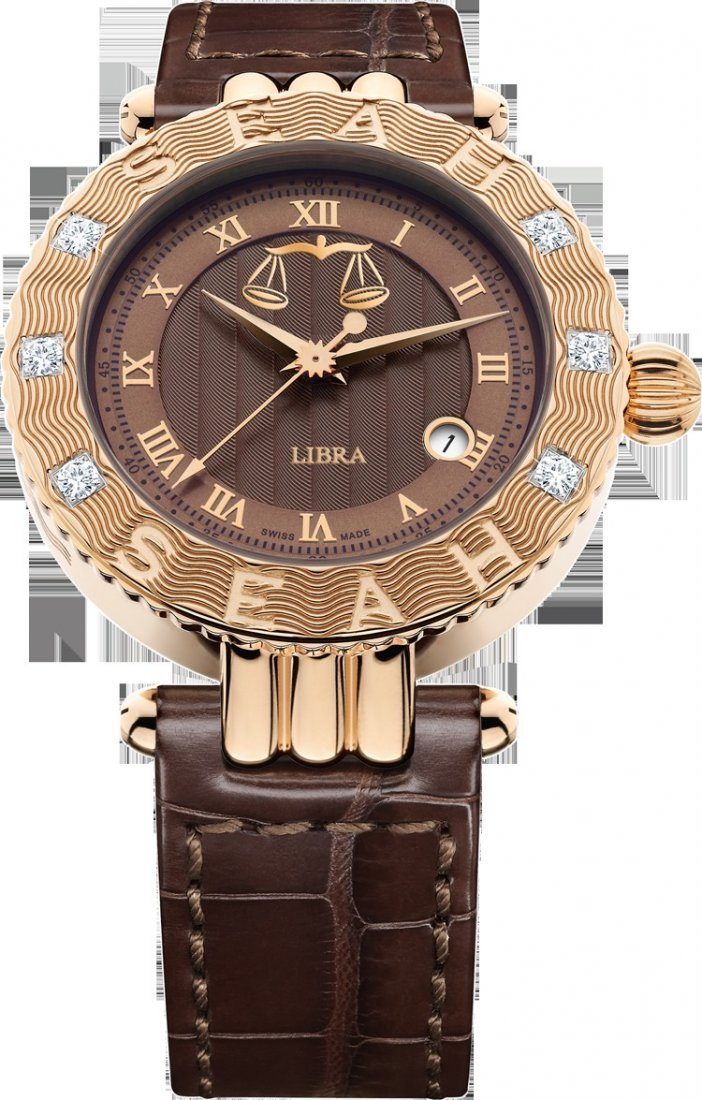 42MM  Swiss Made Automatic  RG Case Brown Dial/Brown M