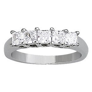 14K Gold 0.645 ctw Square Diamond Ring.  Brand New!