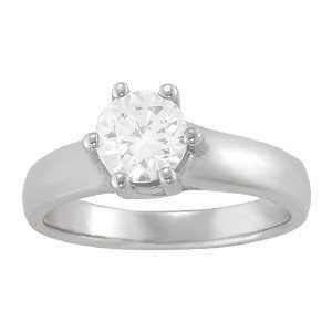 14K Gold 4 ctw Round Diamond Ring.  Brand New!   Featur