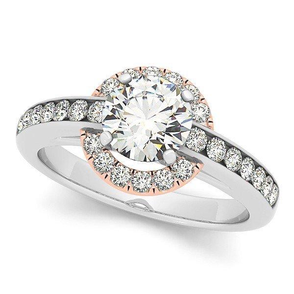 14K Gold 2.93 ctw Round Diamond Ring.  Brand New!   Fea
