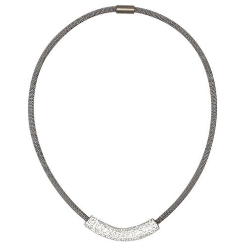 Black Stainless Steel Mesh Magnet Necklace