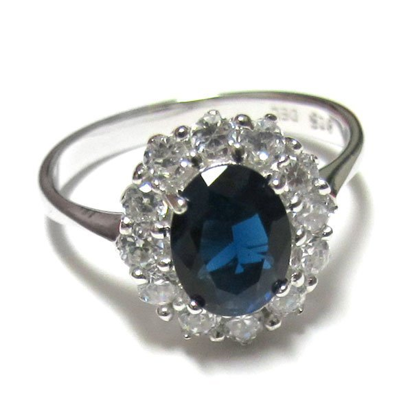 Sterling Silver-Sapphire Royal Ring