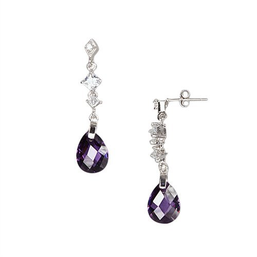 Sterling Silver-crystal earring