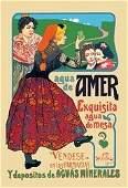 Agua de Amer: exquisita agua de mesa 20x30 poster