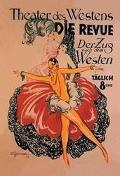 Theater des Westens: Die Revue 12x18 Giclee on canvas