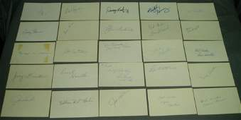 BASEBALL LOT OF 50 DIFF AUTOGRAPHED 3X5 INDEX CARDS 19