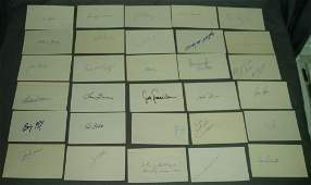 BASEBALL LOT OF 50 DIFF AUTOGRAPHED 3X5 INDEX CARDS 1