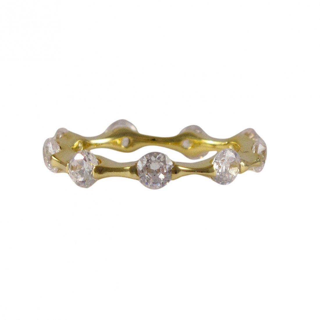 Sterling Silver-GD-CZ Ring