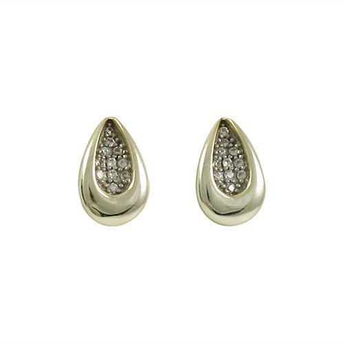 Sterling Silver Gold CZ Earrings