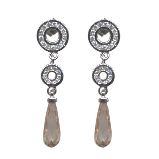 Sterling Silver-CHAMP Post earring