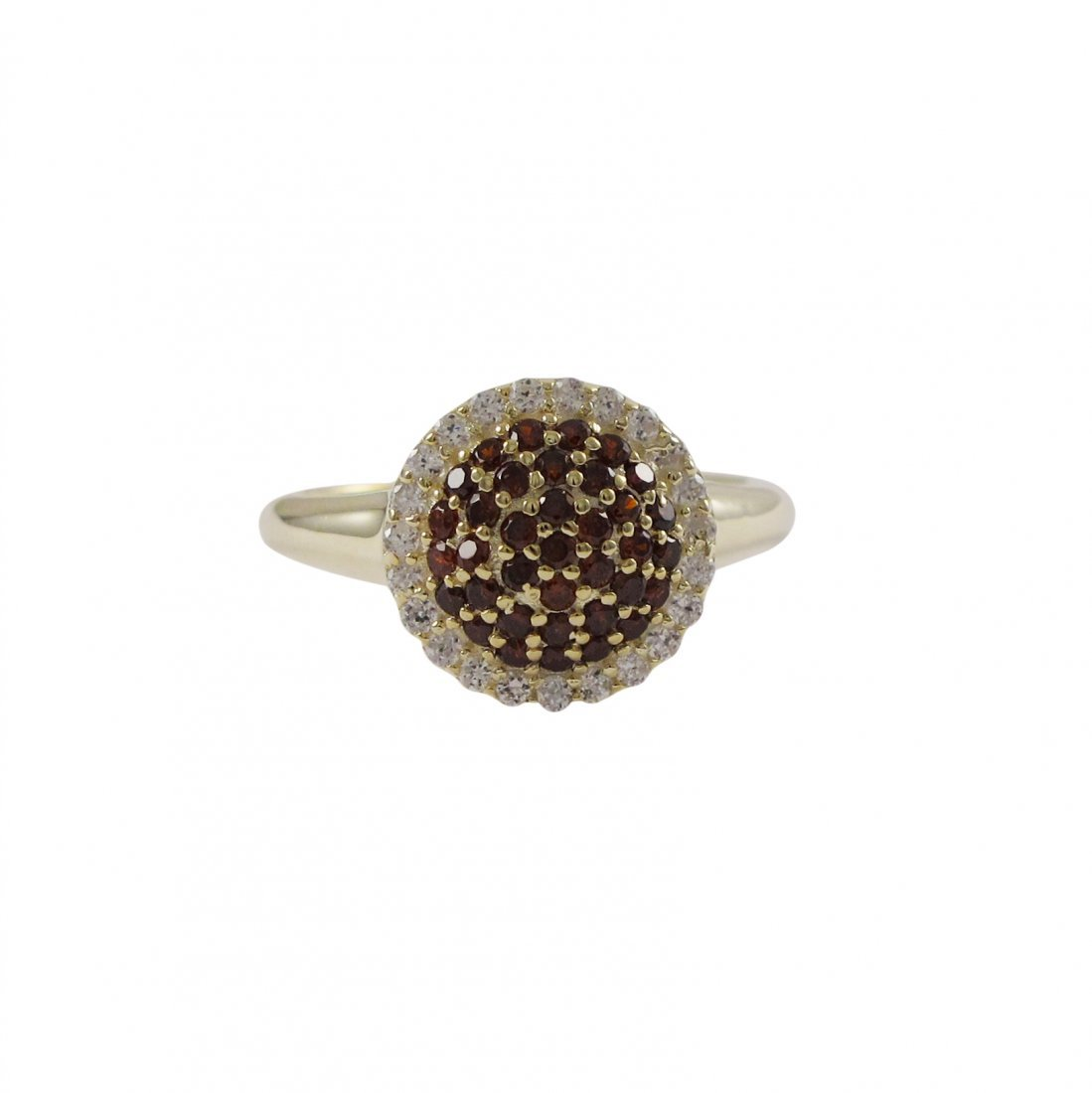 Gold Plated Sterling Silver 10mm Round Circle With Garn